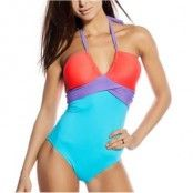 Seekers Bandeau Swimsuit Block Turquise * Fri Frakt * * Kampanj *
