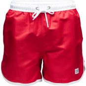 Frank Dandy St Paul - Long Bermuda Swim Shorts, Red