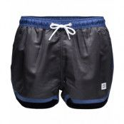 Frank Dandy St Paul - Swim Shorts, Black & Dark Navy