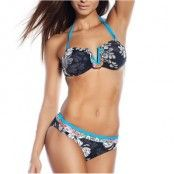 Seekers Bandeau Bikini Set Ruffle Flower Black * Fri Frakt * * Kampanj *