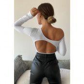 Chloé B x NA-KD Bodysuit Med Öppen Rygg - White