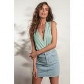 Kim Feenstra x NA-KD V-Ringad Body - Turquoise