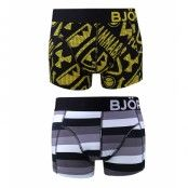 Björn Borg - 2-pack short shorts - Red alert & Smog stripe