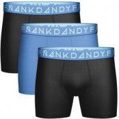 Frank Dandy 3-pack Blue Solid Boxers * Kampanj *
