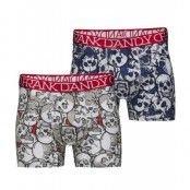 Frank Dandy 2P. Assorted Skulls Boxer White & Dark Navy (L)