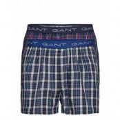 2-P Boxer Shorts Tartan/Blue Check Boxerkalsonger Multi/mönstrad GANT