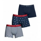 Gant 3-Pack Trunk Stripes & Stars, Marine (XXL)