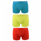 Salming - 3 - pack Abisko boxer - Turquoise/Lime green/Red