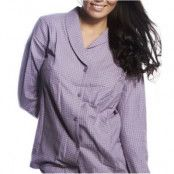 Calvin Klein Pyjamas Shirt Gwendolyn Check Lilac * Fri Frakt * * Kampanj *