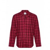 L/S Button Down Pyjamas Röd Calvin Klein