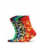 7-Pack 7 Days Of Food Socks Gift Set Ankelstrumpor Korta Strumpor Multi/mönstrad Happy Socks