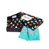 Happy socks Combo Box Triangle Boxer and Sock Blck * Fri Frakt * * Kampanj *