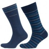 Hugo Boss Socks Striped Pattern 2-pack * Fri Frakt *