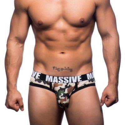 Andrew Christian MASSIVE Camouflage Mesh Brief * Fri Frakt *