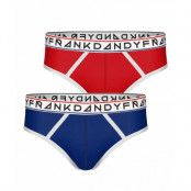 Frank Dandy 2-Pack St Paul Bamboo Brief, Dark Navy/Red (S)